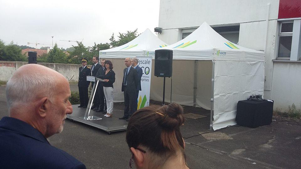 inauguration Escale'Eco à Soustons