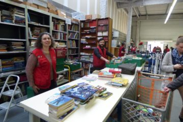 Ateliers tri des livres Recyclerie Voisinage Soustons