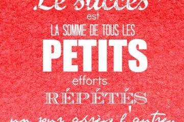 citations le succès est la somme de tous les petits efforts répétés
