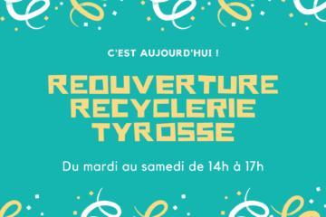 Réouverture de la Recyclerie Tyrosse